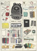 What's always in my backpack by Proud-of-your-love
