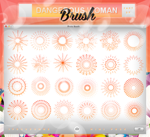 + DANGEROUS WOMAN      BRUSHES by swxt-moon
