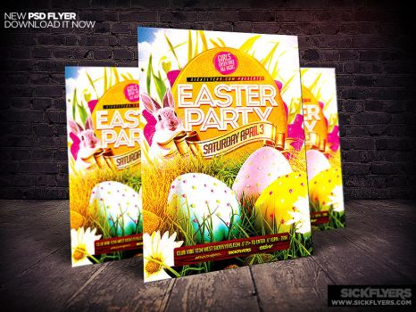 Easter Flyers On Flyerdesigns  Deviantart