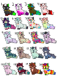 Colorful Kitty Adopts .:25 Points:. (OPEN) by QualiT-Adopts