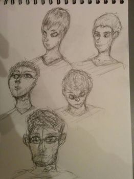 Face Sketches by MFFchaos
