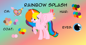 Rainbow splash reference sheet1 2017-INFO IN DISC by Lalalover4everYT