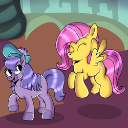 Bramble and Fluttershy by DoraeArtDreams-Aspy