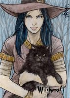Witchcraft Sketch Card - Andre Toma 2 by Pernastudios