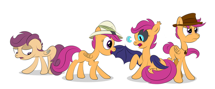 The Many Faces of Scootaloo by DaringDashie