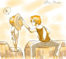 Op: Luffy and Ace by francielenfortes