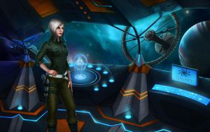 Commision. Fanart to Elite Dangerous. Helena Stone by KatreShka