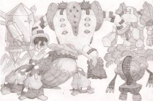 Regigigas, Regice, Regirock, Registeel and Heatran