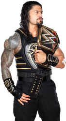 Roman Reigns NEW png as WWE Champion 2018 HD by LunaticAhlawy