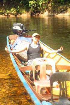 Laura In The Boat To Mendalam LongHouse by lisacred