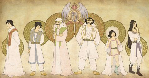 The Royal Family of Saillune by mustamirri