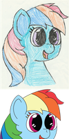 Thanksgiving Doodle Rainbow Dash by mkanke