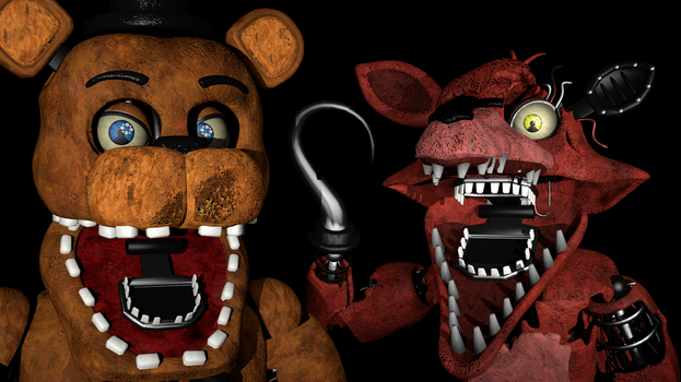 Withered Freddy VS. Withered Foxy (Remastered) by zabuza2000momochi