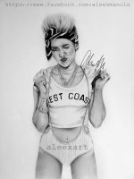 Miley Cyrus - WE CAN'T STOP by aleexart