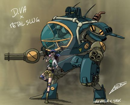 Overwatch X SNK  D.VA X Metal Slug by Darthlother