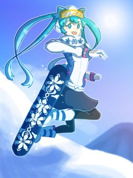 Snow Miku 2016 by Giant-cheeseburger