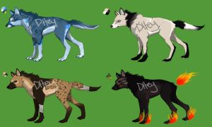 Wolf/dog Point Adopts by dttey