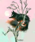 Fox in a tree by evelmiina
