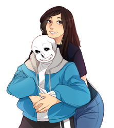 [c] DeviantID - Sans and I by SerenityAbyss