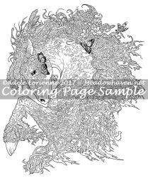 Art of Meadowhaven Coloring Page: MossLord by Saimain