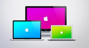 Apple Logo Material Design Desktop by JasonZigrino