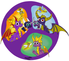 All 3-Spyros (Sparxs and Cynders too) by MauroRex4883