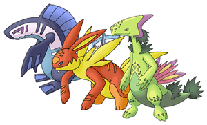 Myoto starters final stages by Saiph-Charon