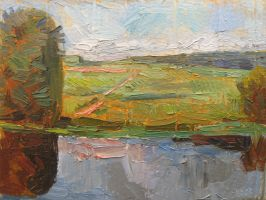 Bulatnikovo Lake. Slashing Etude. 2005 by Yudaev