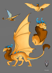 Dragon Design - Lion by Poci16