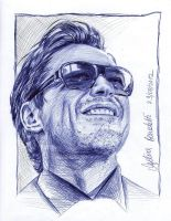 Robert Downey Jr. smiling by AngelinaBenedetti