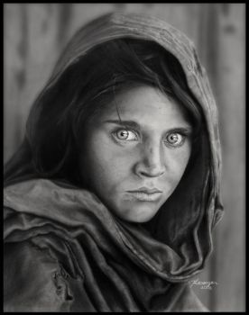 Sharbat Gula Drawing by Novastar2486