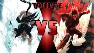 Yoruichi Shihoin vs Might Guy by Dynamo1212