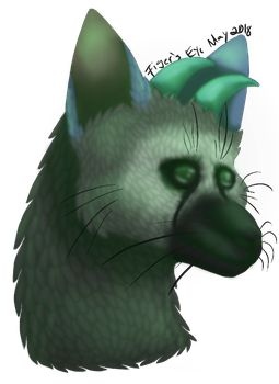 Trico Painting Practice by TlGERSEYE