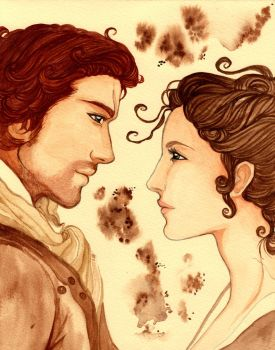 Outlander: Jamie and Claire Fraser by Cephis
