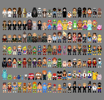 8-Bit Collection of Characters by LustriousCharming