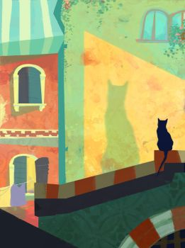 Rooftop Cat by Chiara-Maria