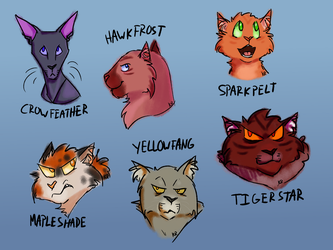 Warriors Headshots by EleventhChosenOne