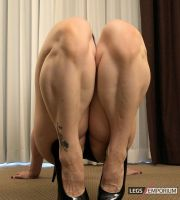 Calf Muscles Squeeze in Your Face with Andrea - LE by LegsEmporium