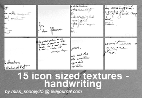 15 icon sized textures by misssnoopy25