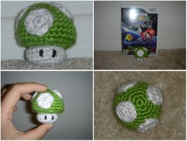 Crochet 1-Up Mario Mushroom by katrivsor