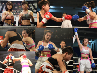 Japanese girl boxer wins in Hong Kong. by femboxjp