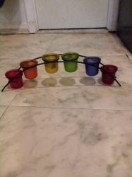 Rainbow Tea Light Candle Holder by UnicornLover2500