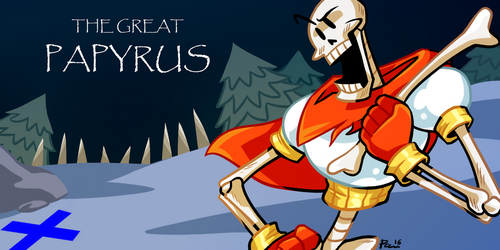 PAPYRUS (Undertale by Letters) by neonUFO