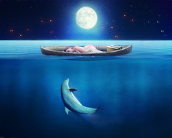 Photomanipulation | Only on sea by Goldow