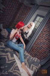 Mary Jane and Black Cat by Shiera13