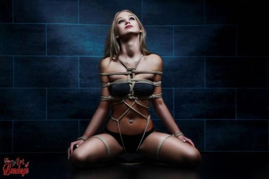 Tied in rope harness - Fine Art of Bondage by Model-Space