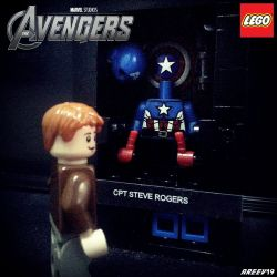 Steve Rogers w/ Captain America Armory MOC by areev19