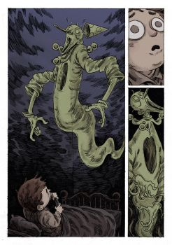 The boy and the ghostclown (colortest) by marklaszlo666