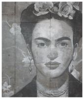 Frida Kahlo, pavement art by deepgrounduk