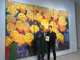 Michael Andrew Law meet with Fang Lijun by michaelandrewlaw